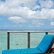 Seascape And Clouscape From Water Villa In Maldives Poster