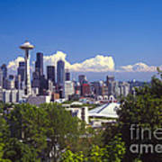 Seattle City View Poster