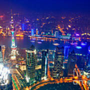 Shanghai Pudong Skyline Poster