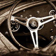 Shelby Ac Cobra Steering Wheel Emblem Poster