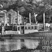 Shem Creek In Black And White Poster