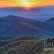 Shenandoah Sunset Poster