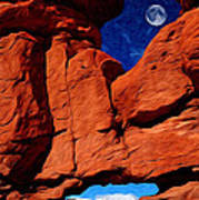 Siamese Twins Rock Formation At Garden Of The Gods Poster