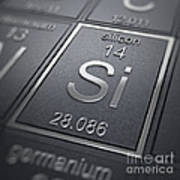 Silicon Chemical Element Poster
