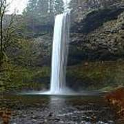 Silver Falls In Winter Poster
