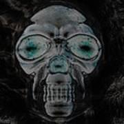 Skull In Negative Poster