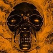 Skull In Orange Poster
