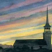 Sky And Steeple Poster