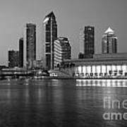 Skyline Of Tampa Along Waterfront Poster