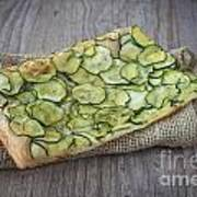 Sliced Pizza With Zucchini Poster by Sabino Parente