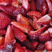 Sliced Strawberries Poster