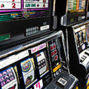 Slot Machines At An Airport, Mccarran Poster