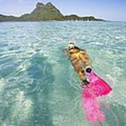 Snorkeling In Polynesia Poster
