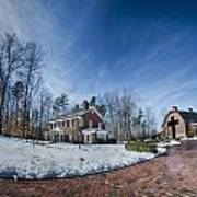 Snow Around Billy Graham Library After Winter Storm Poster
