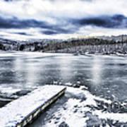 Snow Big Ditch Lake Poster by Thomas R Fletcher