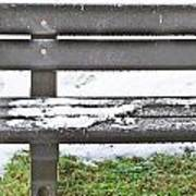Snow On Bench Poster