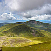 Snowdonia Panorama Poster by Jane Rix