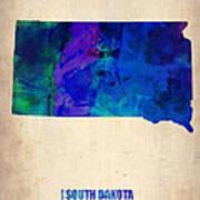 South Carolina Watercolor Map Poster by Naxart Studio