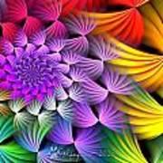 Spiral Swirls Poster