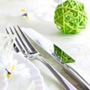 Spring Table Setting Poster by Mythja  Photography