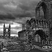 St Andrews Cathedral And Gravestones Poster