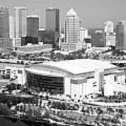 St. Pete Times Forum And Tampa Skyline Poster