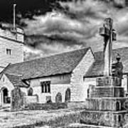 St Sannans Church Bedwellty 2 Mono Poster