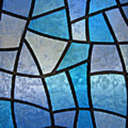 Stained Glass Background With Ice Flowers Poster by Kiril Stanchev