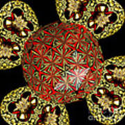 Stained Glass Kaleidoscope Under Glass Poster