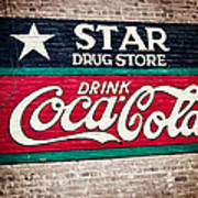 Star Drug Store Wall Sign Poster