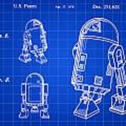 Star Wars R2-d2 Patent 1979 - Blue Poster