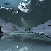 Station 211 Alien Nazi Base Located Poster