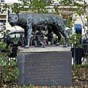 Statue In A Paris Park Poster