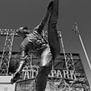 Statue Of Juan Marichal Outside Atandt Park San Francisco Poster
