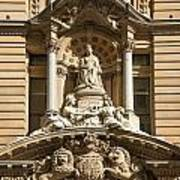 Statue Of Queen Victoria At Town Hall Of Sydney Australia Poster