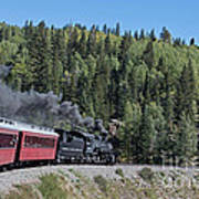 Steam Engine 488 At Osier On The Cumbres And Toltec Scenic Railroad Poster