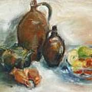 Still Life With Earthen Jugs Poster