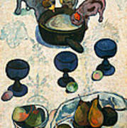Still Life With Three Puppies Poster
