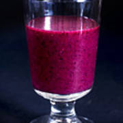 Strawberry Blueberry Smoothie Poster
