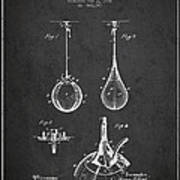 Striking Bag Patent Drawing From1891 Poster