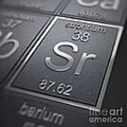 Strontium Chemical Element Poster
