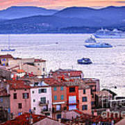 St.tropez At Sunset Poster