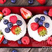 Summer Fruit Platter Poster by Jane Rix