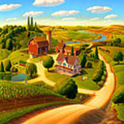 Summer on the Farm  Poster