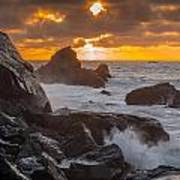 Sun Sets On Patrick's Point Poster