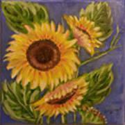 Sunflower Burst 1 Poster