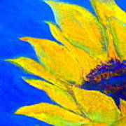 Sunflower In Blue Poster
