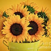 Sunflowers In Vase Poster by Elena Elisseeva