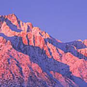Sunrise At 14,494 Feet, Mount Whitney Poster