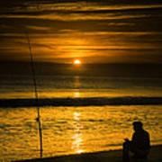 Sunrise Fishing Poster